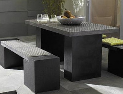 Stone Garden Furniture Looks Fantastic When Used In Outdoor Dining Areas,  As We Can See From The Image On The Left.